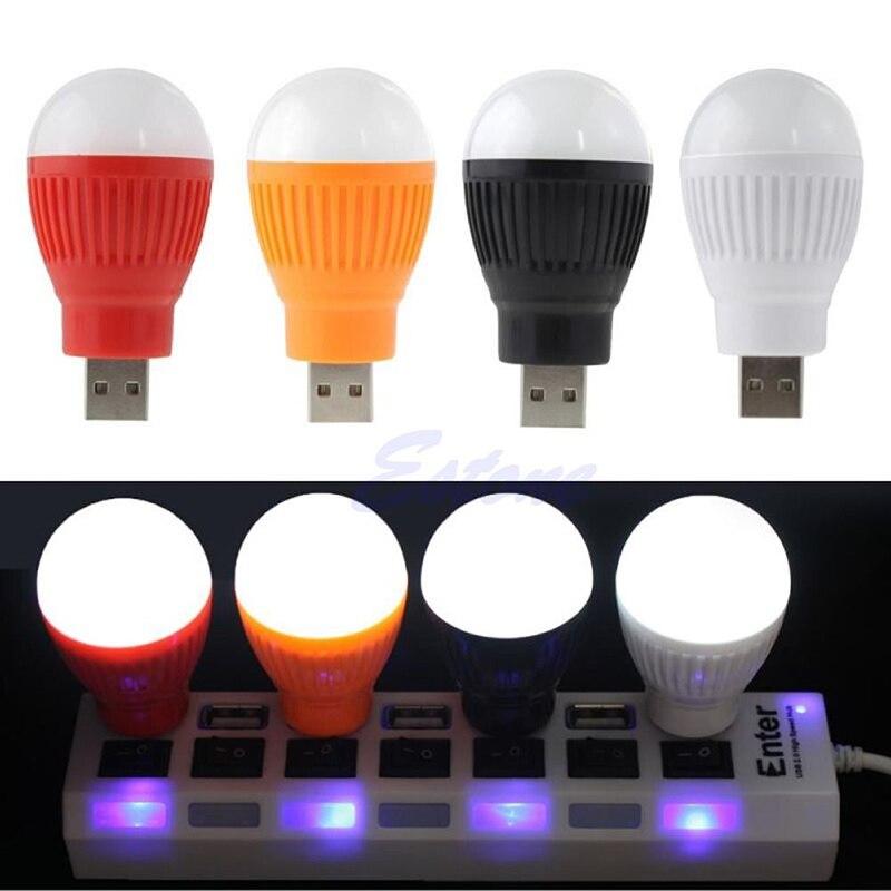 1 шт. Портативный Mini-USB светодиодный свет лампы для компьютера портативных ПК рабочий стол Чтение Горячее предложение