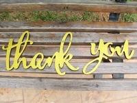 Glitter Altın DIY için Burcu Düğün Fotoğraf Prop Teşekkür Ederim Teşekkür Gelin & Damat Fotoğraf için size Kart Ahşap Kaligrafi Burcu Deco