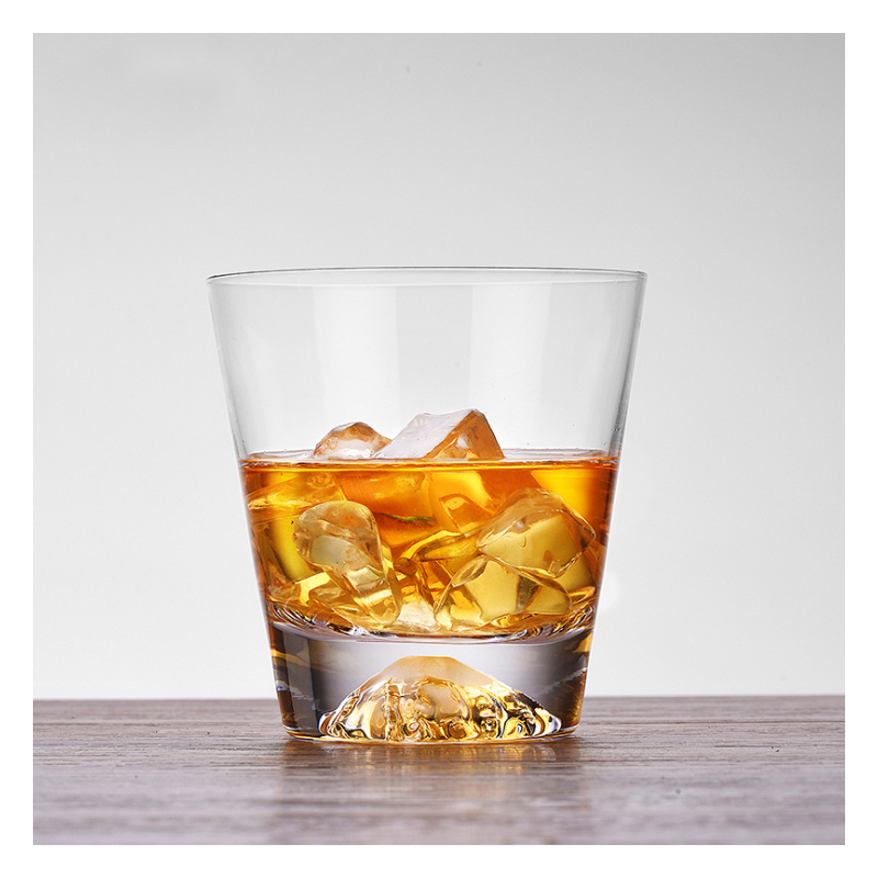 1Pcs 350/450ml glass Cup Originality Fuji pattern Heat-resistant glass Cup Brandy whisky glass for beer Cocktail Cup