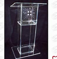 Free shipping Hot Sell Simple cheap acrylic lectern/ acrylic podium pulpit lectern/ acrylic lectern|Theater Furniture|Furniture -