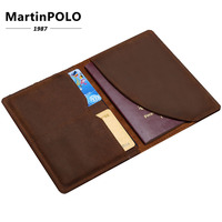 Genuine Leather Men Passport Cover Passport Holder Travel Wallet Card Wallet Credit Card Holder Porte Carte Business Male J K018