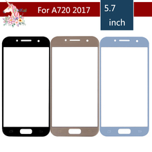 10pcs/lot For Samsung Galaxy A7 2017 A720 A720M SM-A720F A720F A720F/DS Front Outer Glass Lens Touch Screen Panel Replacement купить недорого в Москве
