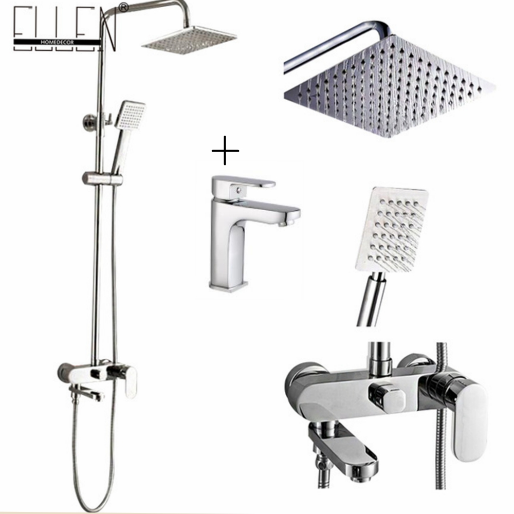 Bathroom Shower Set 8 10 12 Inch Rain Shower Head Bath
