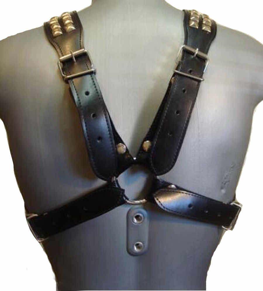 Detail Feedback Questions about Men Leather Studded Harness ...