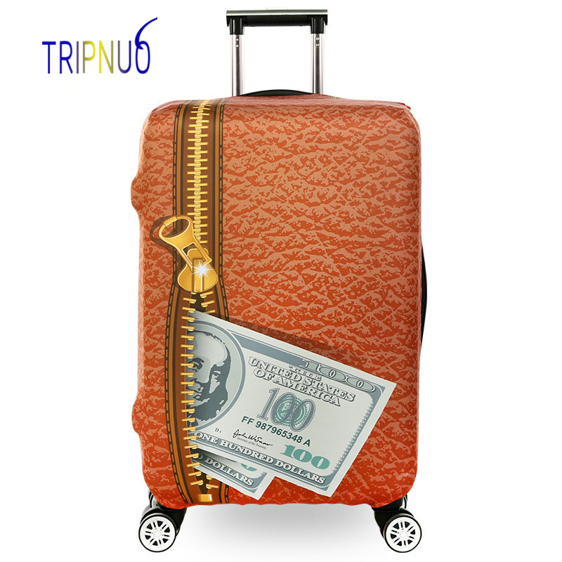 TRIPNUO Thickest Elastic Zipper&US Dollar Luggage Suitcase Protective Cover, Apply To 18-32inch Cases, Travel Accessories