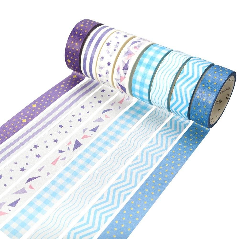 Colorful Geometric Washi Tape DIY Decor Scrapbooking Sticker Masking Paper Decoration Tape Adhesive School Office Supplies