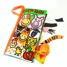 Bebé Libro de Tela Cola Móvil Toddlers infantil juguetes de Peluche Suave Juguete de Cama Temprano desarrollo Educativo juguetes para bebes jouet