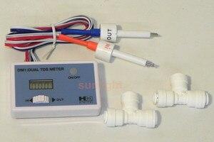 Image 2 - HM Digital 5 ชิ้น/ล็อต DM 1 บ้านน้ำ In   Line Dual TDS Monitor สามารถวัด In   put น้ำและ Out   ใส่น้ำ