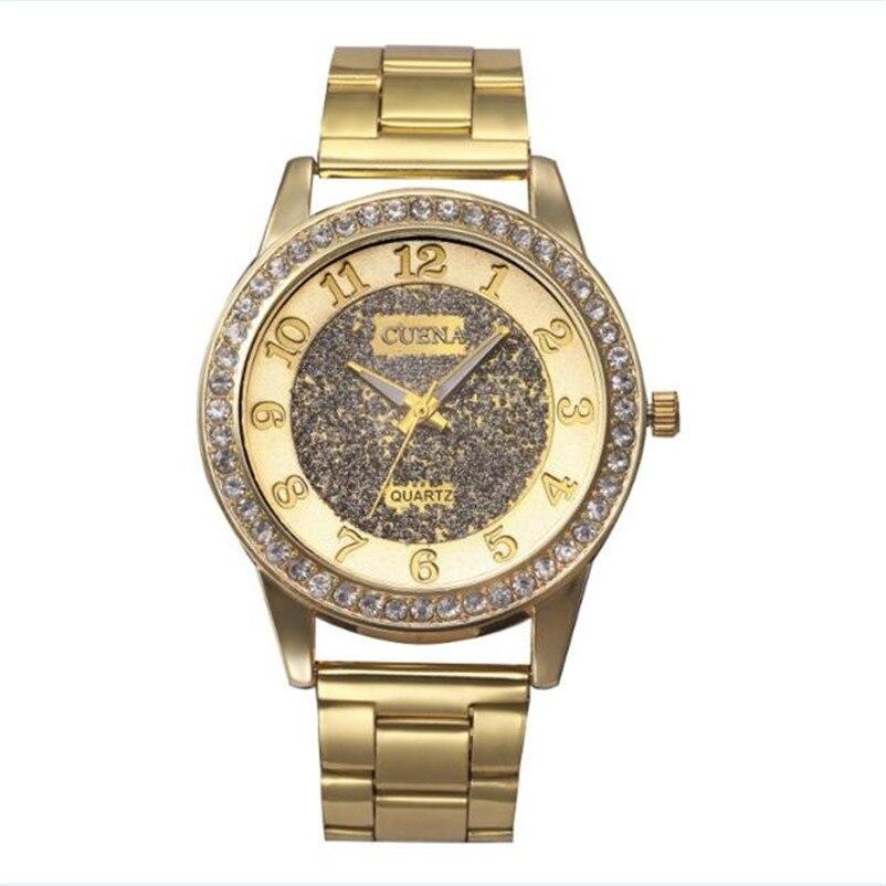 Top Quality Luxury Brand Women Watch Business OL Stainless Steel Analog Quartz Watch Ladies Wrist Bracelet Watches Dress Watch stylish 8 led blue light digit stainless steel bracelet wrist watch black 1 cr2016
