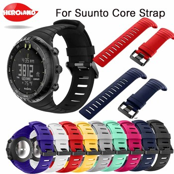 Bracelet outdoors Sports Silicone watch strap For Suunto Core watchBand Smart watch Replacement TPU Strap Wristband Accessories for suunto core camouflage strap for suunto core frontier classic smart sports silicone replacement wristband strap accessory