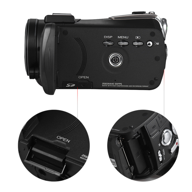 Andoer AC3 4K UHD Portable Digital Video Camera Camcorder DV Recorder 30X Zoom WiFi Connection 3.1 Inch IPS LCD Touchscreen 4