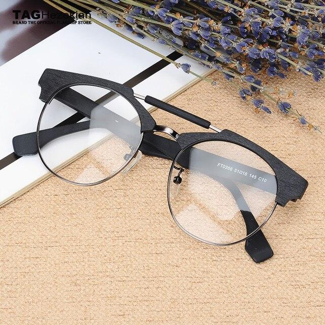 dc640232fb Retro etiqueta Ezequías Vintage marca gafas de madera marcos de los hombres  y las mujeres de