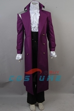 Prince Rogers Nelson in Purple Rain Coat Shirt Pants Whole Set Halloween Party Cosplay Costume For Adult Men