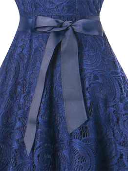 OML510Z#V-neck Navy blue Bow Short Bridesmaid Dresses wedding party dress 2019 prom gown women\'s fashion wholesale clothing