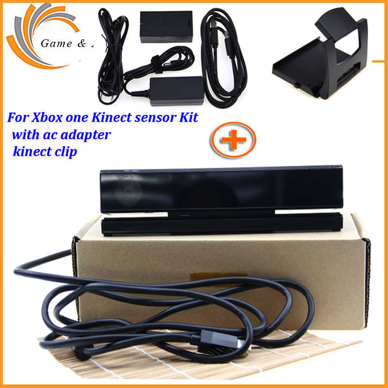 2019 for Kinect 2.0 Sensor+AC Adapter Power Supply for Xbox one S/X/Windows PC for XBOXONE Slim/X Kinect Adaptor+TV Clip Kit