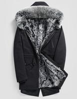 High Quality 2017 New Men Winter Jacket With Fox Fur Trim Hood Fur one inside warm winter coat