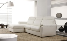 Lujo fresco con estilo muebles de sala sofá de cuero moderno de cuero de grano nuevo especial 8261
