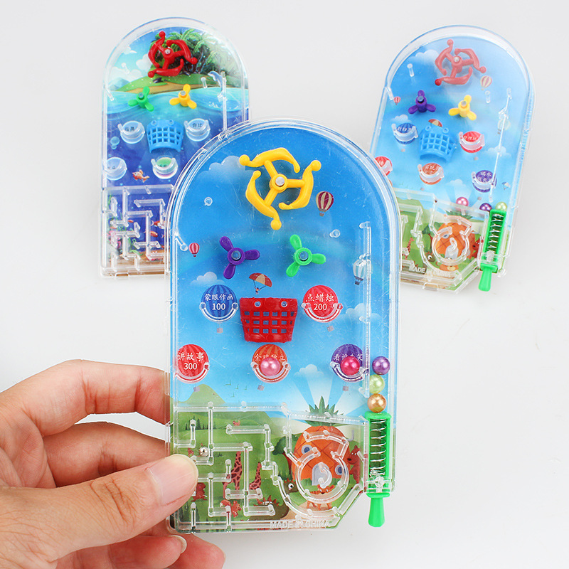 Novelty Pocket Pinball Toy Funny Party Games Gift Machine Mini Puzzle Plaything Random color image