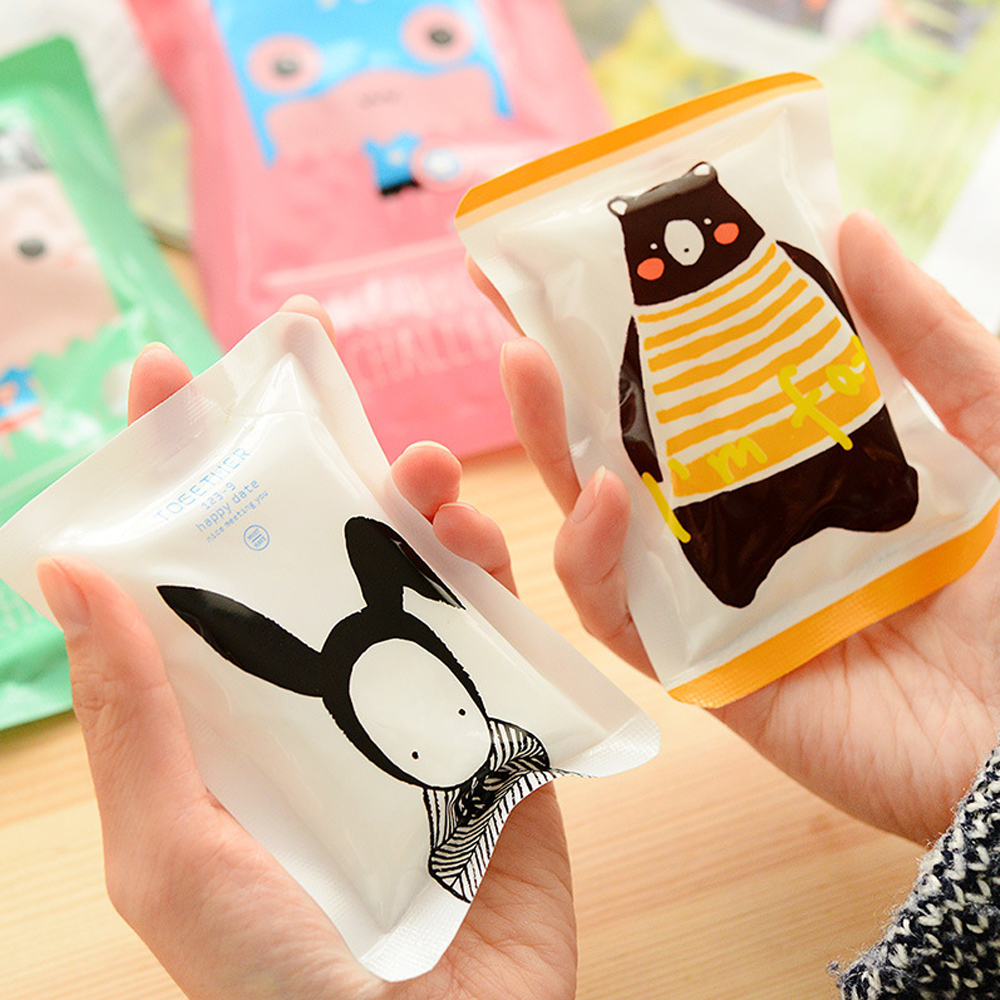 Mrs win Mini Cartoon Ice Bag Reusable Injury Ice Bags for Swelling Fever Food Cold Preservation Cooler Bags for Storage Fruit ...