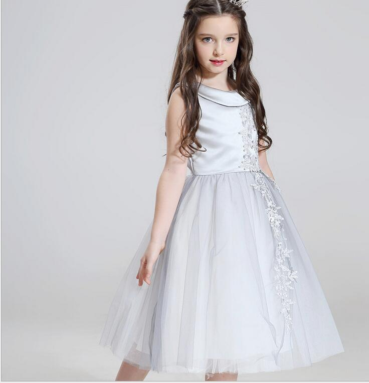 Glizt silver beading first communion dresses for girls pageant glizt silver beading first communion dresses for girls pageant flower girl dresses sleeveless girl wedding party dresses in dresses from mother kids on mightylinksfo