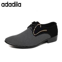Cheapest mens dress shoes Pointed toe mens Oxfords wedding business white blue shoes lace up mens fashion flats 46 47(China)