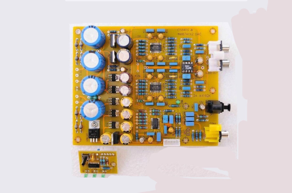 CS8416+OP275G+WM8741 x 2 DAC Decoder Finished Board 24Bit 192K AC 7-9V AC 12-16V danjue 8741 1