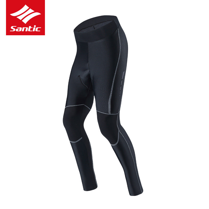 Santic Cycling Pants Pro Spong Padded Mountain Road Bike Pants Men Bicycle Long Pants Breathable Bike Tights Bermuda Ciclismo santic cycling bib long high quality tights men coolmax sponge padded sport road mountain bike pants anti pilling bicycle pants