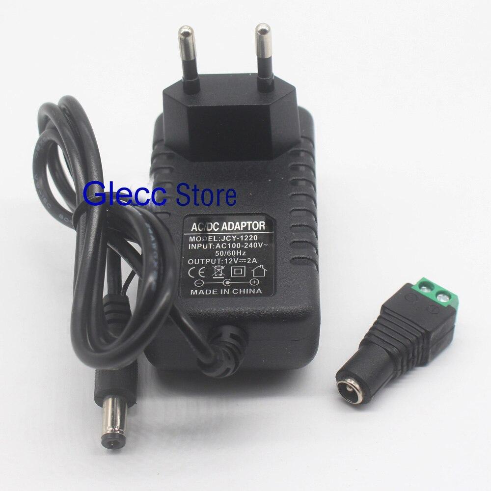 Адаптер для светодиодной ленты, 24 Вт, 220 В переменного тока в 12 В постоянного тока, 2 А, светодиодный * 5,5 мм, 1 шт.