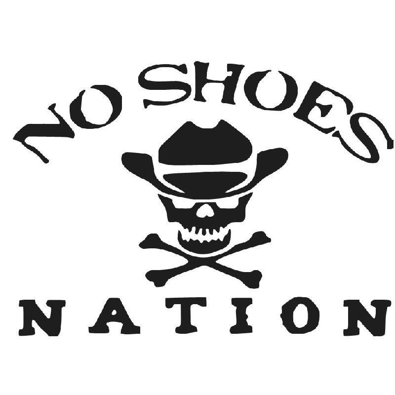 20 3cm 14 8cm No Shoes Nation Die Cut Vinyl Decal Kenny