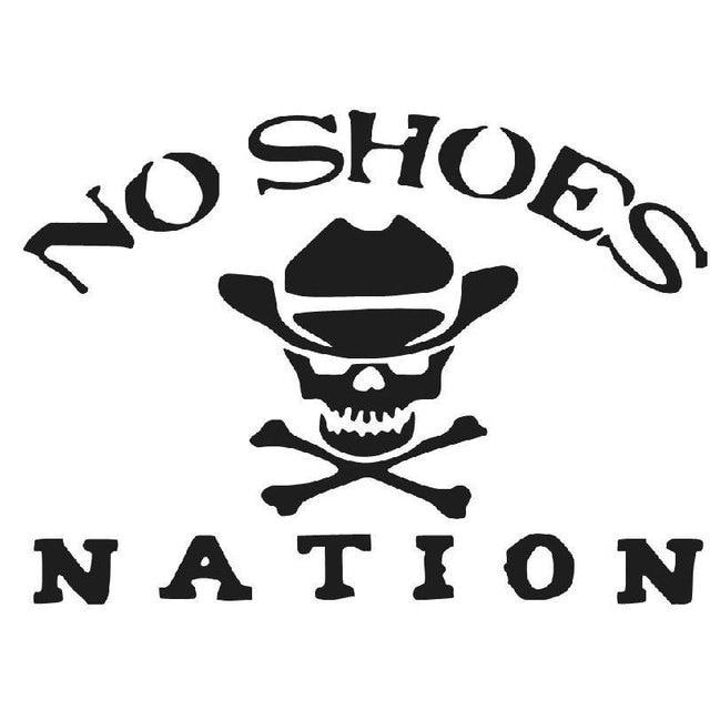 20.3CM*14.8CM No Shoes Nation Die Cut Vinyl Decal Kenny