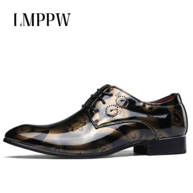 e4d302ff0c US $35.58 32% OFF|High Quality Men Shoes Patent Leather Lace up Oxfords  Shoes Men Designer Shoes Casual Breathable Big Size Mens Shoes Comfort 8-in  ...