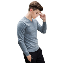 2017 Men Sweater Knitted Solid Sweater Men Casual Pullover Men Slim Fit V Neck Winter Antumn Pull Homme Sweaters