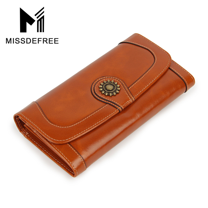 Naha vaha nahast pikkade naiste rahakoti naistele Vintage tõmblukk Haps Bifold rahakoti krediitkaardi hoidja loomanahk naise siduri rahakotid