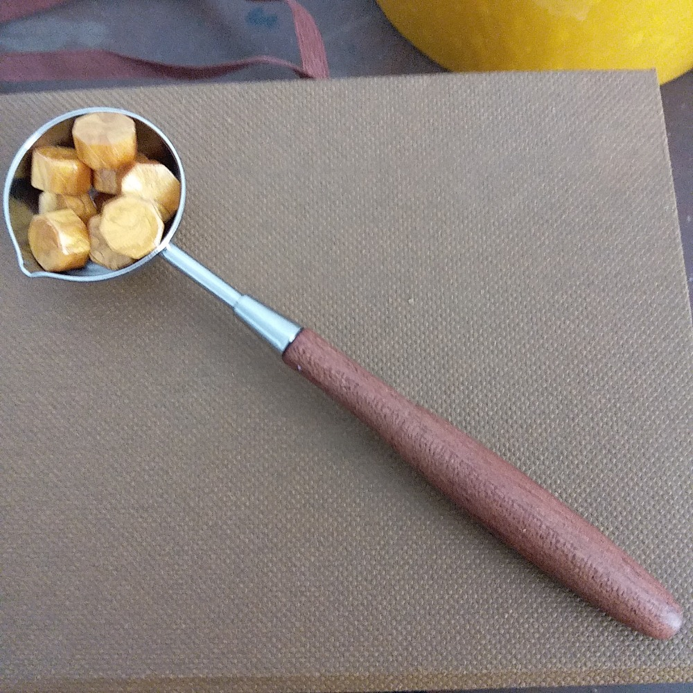Featured medium size wooden handle sealing wax spoon for stamp sealing big copper spoon big large size stamp spoon vintage wooden handle brass spoon for sealing wax stamp wax stick spoon