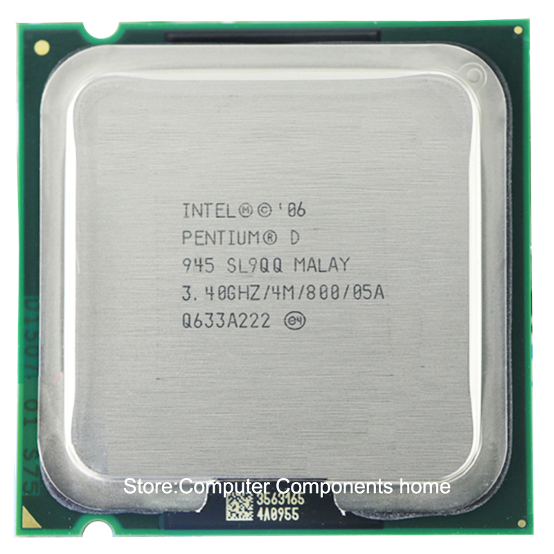 Intel Pentium D945 PD945  Processor PD 945 CPU (3.4Ghz/ 4M /800GHz) Socket 775