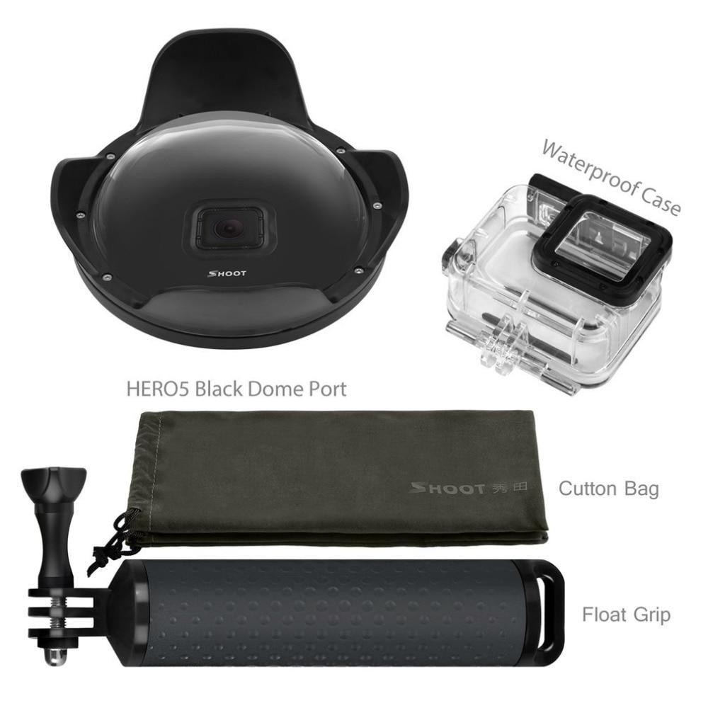 Снимать купольный чехол для дайвинга рыбий глаз крышка объектива маска Комплект для GoPro Hero 6 5 поколения Professional S порты и разъёмы камера интим...