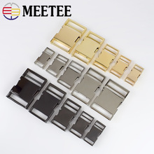 5pcs Meetee Metal Side Release Buckle 14/19/25/31/38mm Pets Collar Backpack Bag Webbing Buckles DIY Paracord Bracelet Hardware