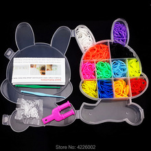 600pcs Colorful Rubber Loom Bands Weave Elastic Make Bracelet Tool DIY set Kit Box Girls Gift Kids Toys for Children 8 10 year цена в Москве и Питере