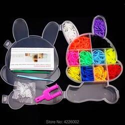 600 шт. красочные резиновый ткацкий станок полосы Ткачество Эластичный инструмент DIY Набор подвесок коробка подарок для девочек детские