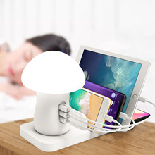 Show wish Table Lamp Touch Sensor Bedside Lamps Wireless charger USB charger station home charger for phone(China)