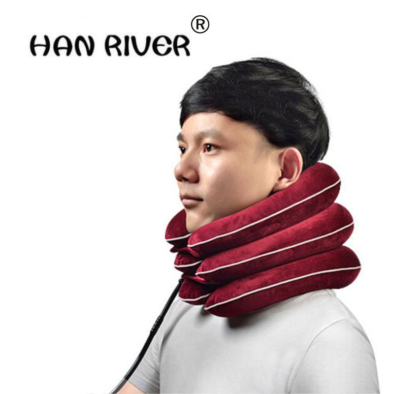 HANRIVER Health care Cervical Collar Traction Household Neck Traction tool Inflatable Collar Cervical Vertebra Traction Massager neck cervical traction device inflatable collar household equipment health care massage device nursing care
