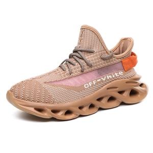 Image 5 - גברים של נעלי ספורט קיץ גברים של נעליים לנשימה עף ארוג זוהר נעלי גברים מאן הנעלה מזדמן חיצוני Zapatillas Hombre