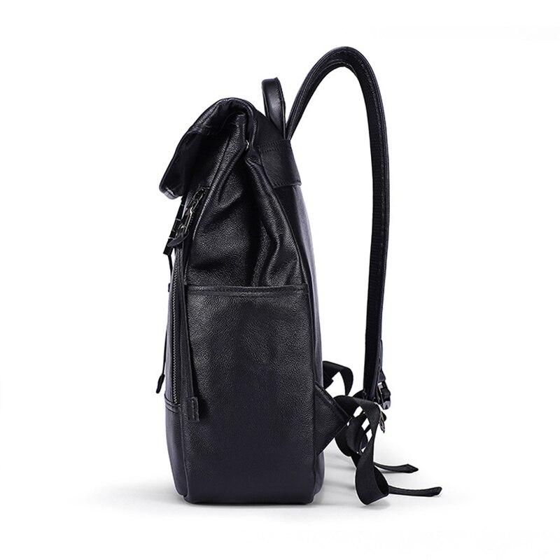 Bagaj ve Çantalar'ten Sırt Çantaları'de Erkek kadın sırt çantası Hakiki Deri Yağı Balmumu anti hırsızlık Ipad çanta kılıfı Omuz Bolsa Feminina Öğrenci Schoolbag Seyahat Hediyeler'da  Grup 3