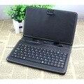 El color blanco y negro caso de Cuero y teclado para 10 pulgadas tablet de nuestra tienda (Quad core 2 GB 16 GB Tablet pc)