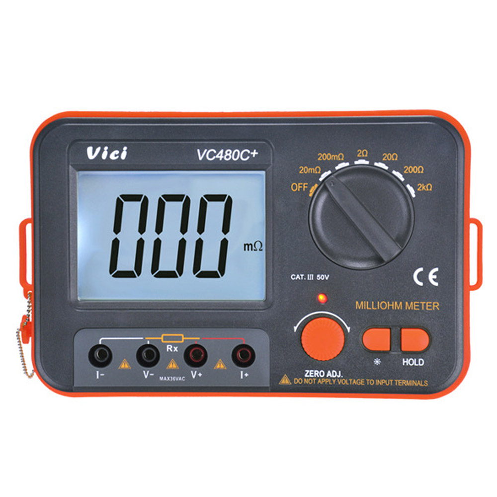 VICI VICHY VC480C+ 3 1/2 Digital Milli-ohm Meter Resistance Tester 4 Wire Test LCD Multimeter Diagnostic Tool Tester Data Hold чехол skinbox slim silicone 4people для huawei p20 transparent