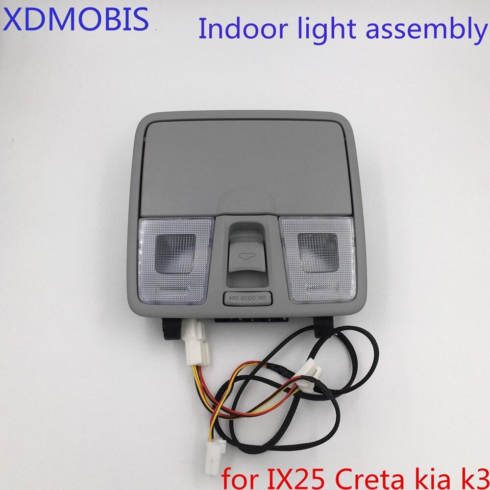 new Upgrade Front map lamp reading light with glass box for Hyundai IX25 Creta 2015 2016