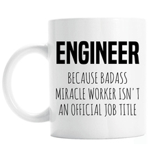Hot Funny Engineer Engineering Gift Geek Official Job Title Engineer Coffee Mug Tea Cup Novelty Christmas Present for Coworker