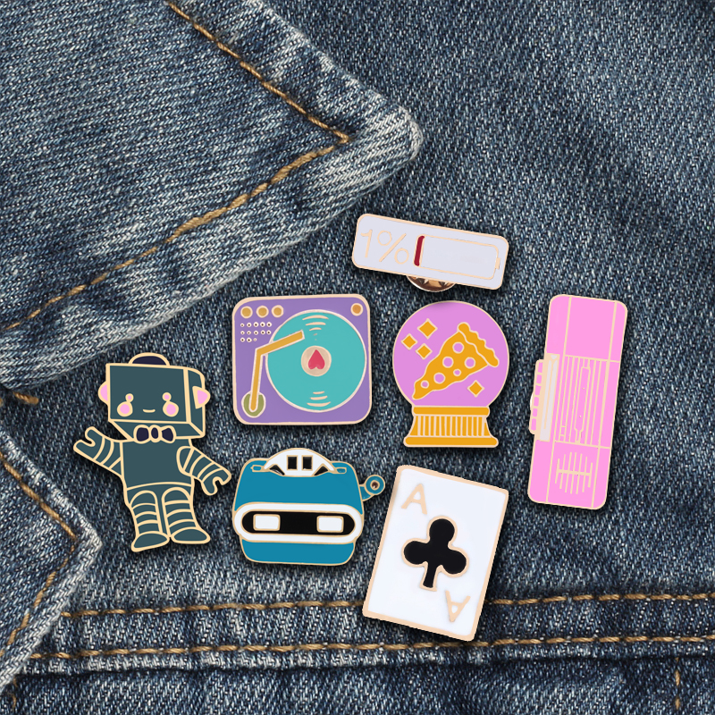 Home & Garden 1pc Cute Cigarettes Scissors Metal Badge Brooch Button Pins Denim Jacket Pin Jewelry Decoration Badge For Clothes Lapel Pins Badges