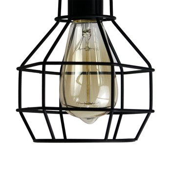 modern cage pendant light iron minimalist retro 1