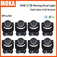8pcs Lot Multiple Color Zoom 90w Led Dj Moving Head Light Sound And Automatic Control Lights